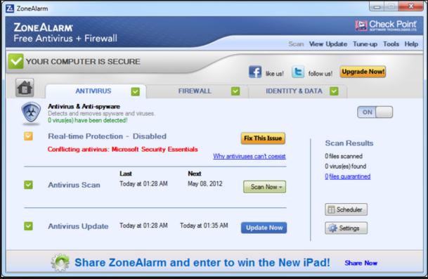 Download ZoneAlarm Free Antivirus Firewall
