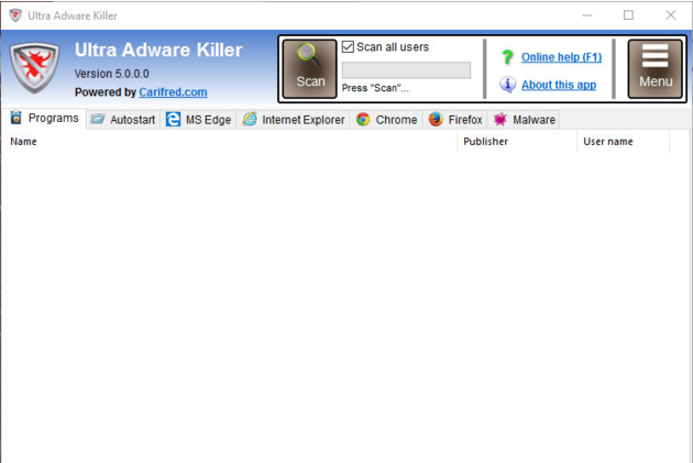 Download Ultra Adware Killer 5.9.0.0