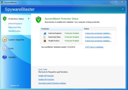 SpywareBlaster 2019 Free Download Latest Version