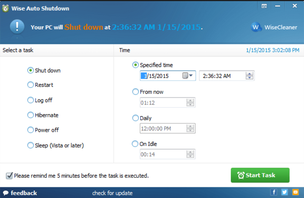 Download Wise Auto Shutdown 1.63 Latest Version