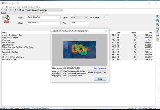CDex 2018 Free Download Latest Version