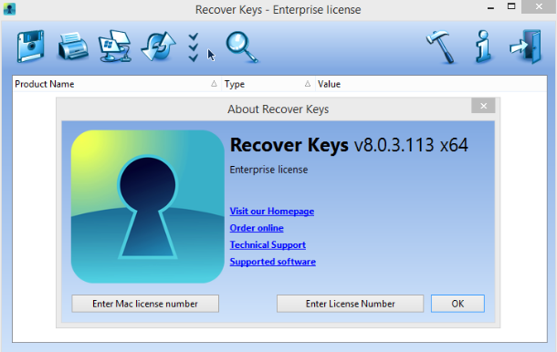 Download Recover Keys 2018.10.0.4 Latest Version
