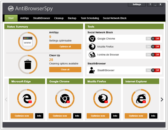 AntiBrowserSpy 2018 Download Latest Version