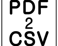 Download PDF2CSV 4.1.0 Latest Version