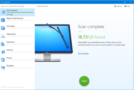 CleanMyPC 2018.1.9.2 Download Latest Version